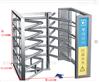 防尾隨90°單機芯半高閘 車站半高手動轉閘