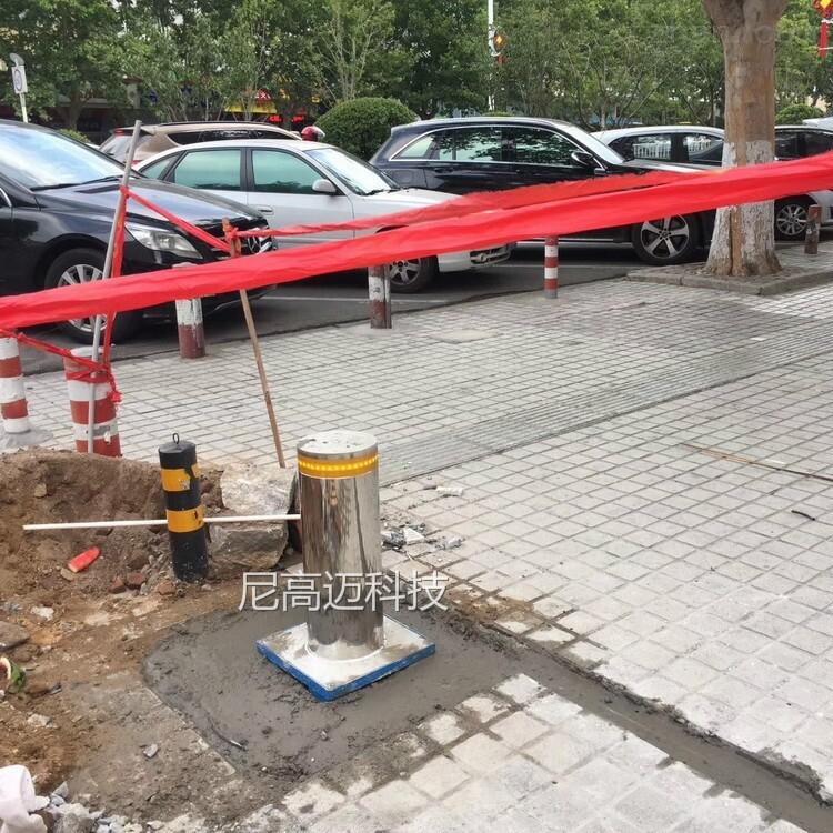 校区安全防冲撞伸降柱 止车柱 升降柱