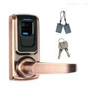 家用智能指纹木门锁 指纹刷卡室内锁 小型国外智能锁