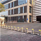 会展中心自动升降车挡 不锈钢伸缩立柱
