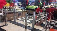 语音播报超市自动感应门单向门进出口器