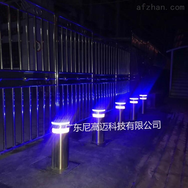 校门口一体式电动液压升降柱路障护柱