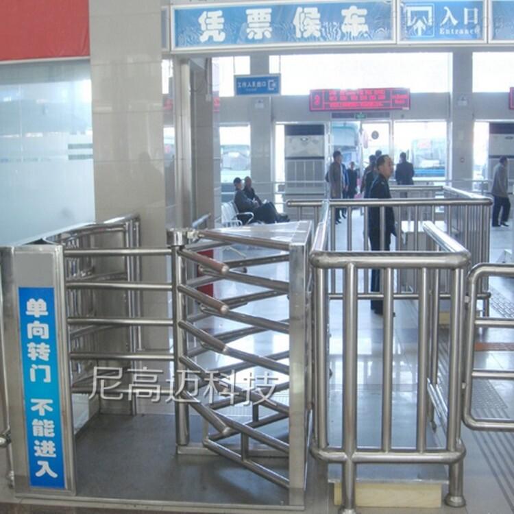 连云港车站候车大厅单向出口旋转门