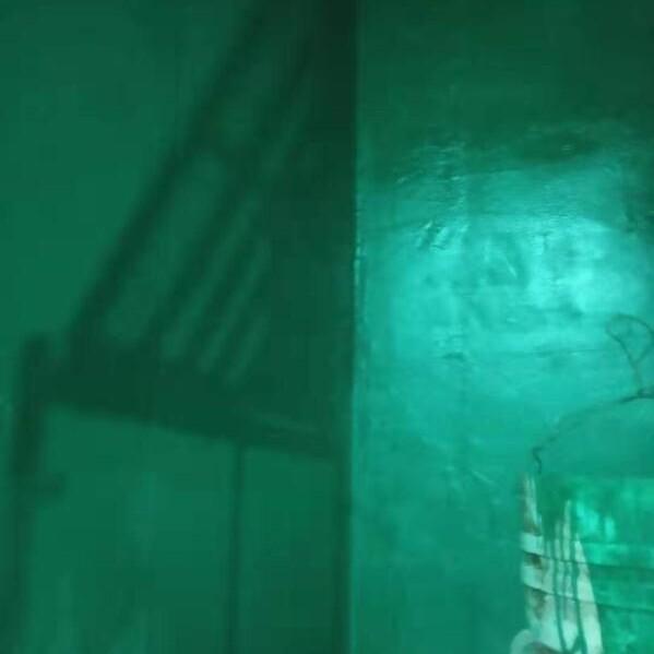 阜新电厂脱硫塔玻璃鳞片涂料防腐施工/图片
