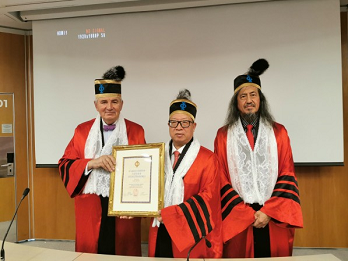 深圳市安全防范行业协会杨金才会长被法国欧洲科学院授予荣誉院士