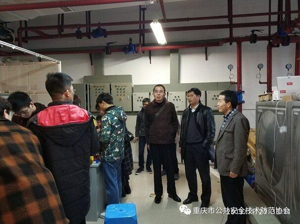 重庆安防协会秘书长考察重庆电子工程职业学院