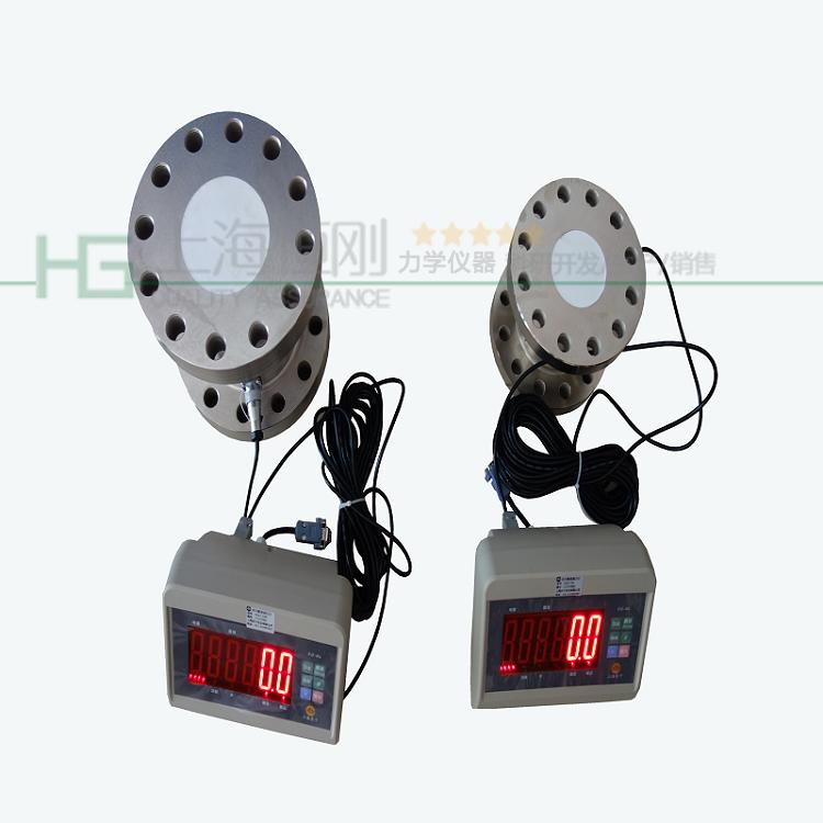 法兰式小型压力测力仪器图片    量程10KN -100KN